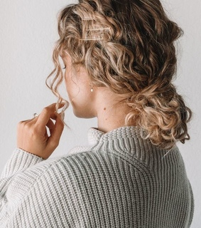 curls, curly and girl
