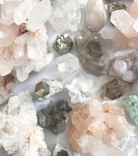 inspiration, crystals and pink