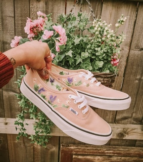 flowers, peach and girly