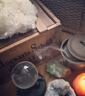 cauldrons, crystals and incense