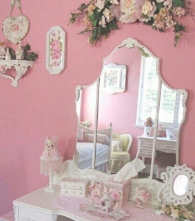 vanity, pink and angelic