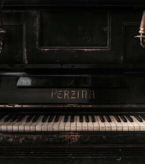 music, piano and dark