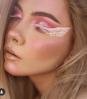 wing, makeup and brows