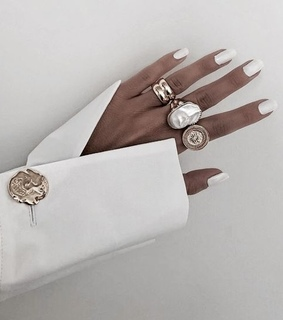white, nails and accessories