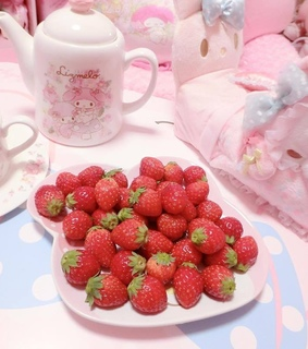red, strawberry and fruit