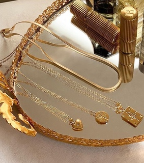 earrings, gold and aesthetic