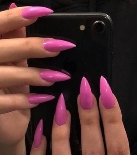 inspo, nails and pink