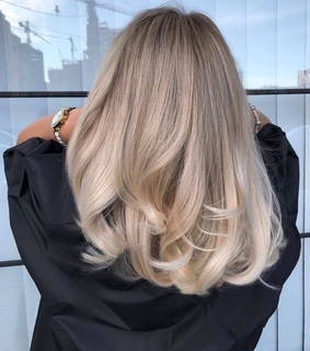 blonde, hairstyle and curly