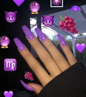 girl, manicure and purple