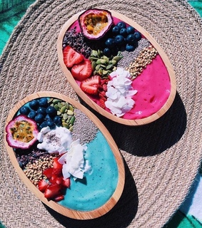 healthy, smoothie bowl and fruit