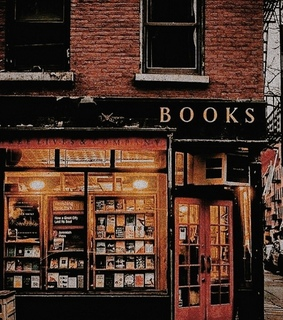 autumn leaves, books and book store