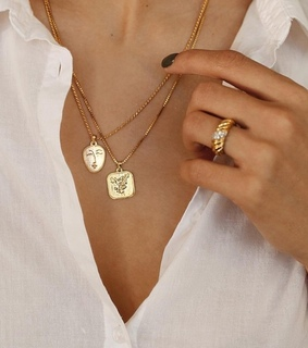jewelry, golden and necklaces