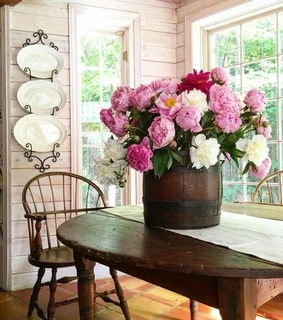 bouquet, pretty and pink peonies