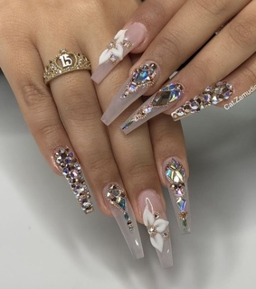 cute, nails and girly