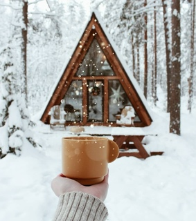 winter, snow and a-frame