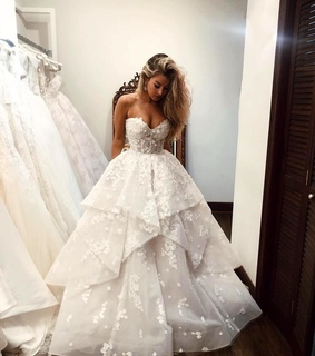 lace, bride and wedding dress