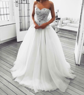 wedding dress, white and gown