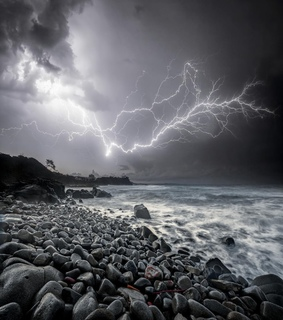 sea, ocean and stormy