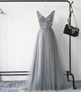 formal dresses, grey prom dress and sexy dress