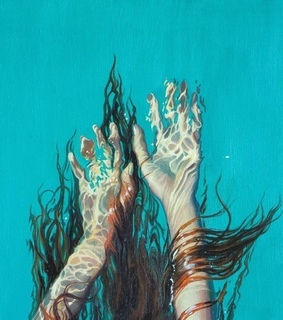 paintings, turquoise and underwater