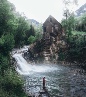 cottage, photography and waterfall