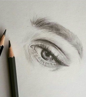 pencil, eye and inspiration