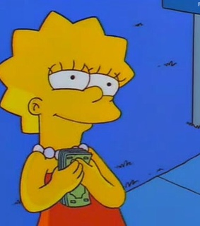 lisa, money and simpsons