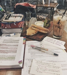 note, coffe and study