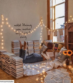 decor, aesthetic and reading