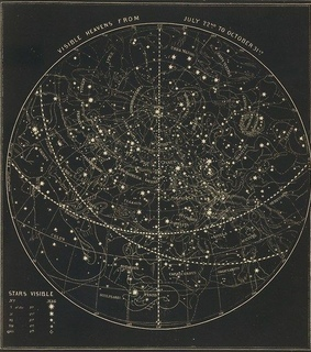 constellations, astrology and map