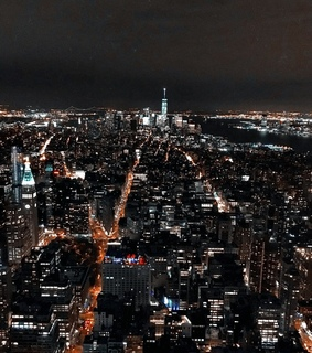 gratte-ciels, empire state building and new york by night