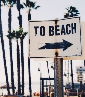 sign, beach and vintage