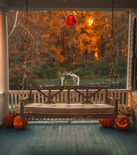 red, Halloween and cozy