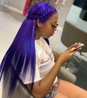 purple, hair and hair style