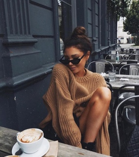 sweater, Nude and espresso