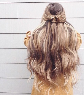knot, girl and hair