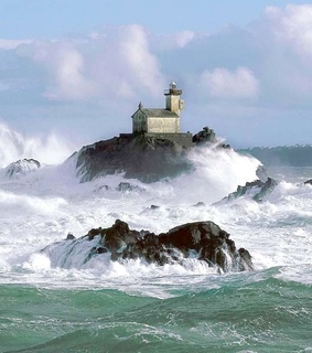 romanticism, ocean and lighthouse