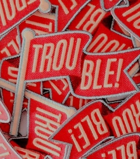 trouble, red and theme