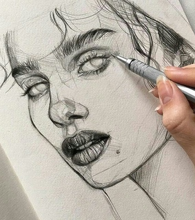 sketch, drawing and art