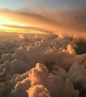 clouds, beautiful and golden