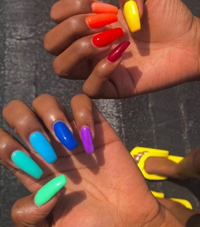 claws, gel nails and aesthetic