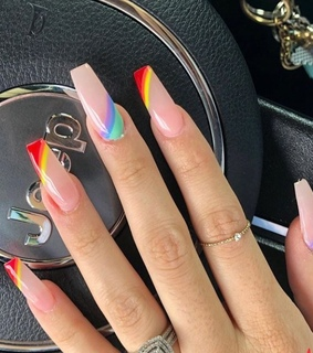 pride, rainbow nails and aesthetic