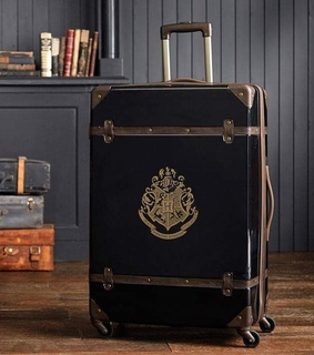 travel, suitcase and black