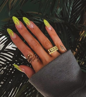 flames, nails and neon yellow