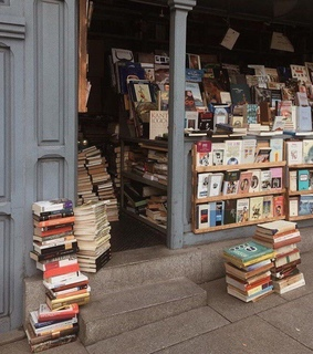 book shop, book and vintage