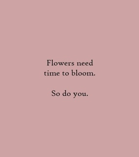 bloom, flower and words