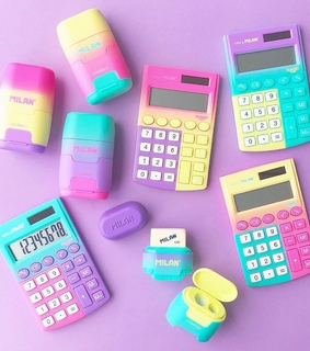 stationery, pink and yellow