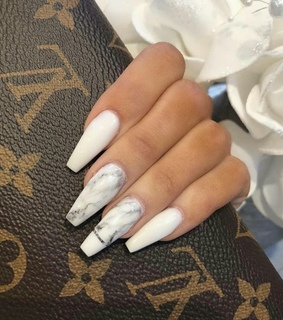 nails, white and gray