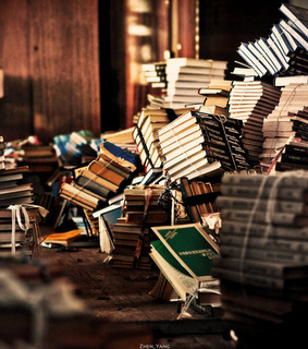 vintage, books and rustic