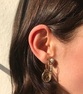 earrings, gold jewelry and accessories